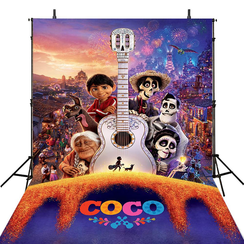 Vinyl Photography Backdrops Coco Family City View Miguel Remember Me Music Dream Guitar Photo Backdrop For Photo Studio