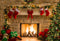 Merry Xmas Eve photo backdrop fireplace photography background Merry Christmas trees gifts photo booth props wall vinyl backdrops kids
