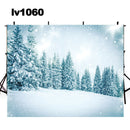 winter snow scenes photo backdrop snow forest frosty cold photography background Merry Xmas photo booth props home party decor Vinyl Fabric backdrops