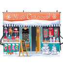 winter snow photo backdrop Merry Christmas photography background Merry Xmas photo booth props home party decor Vinyl Fabric backdrops