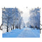 forest snow landscape photo backdrop winter scenery road trees photography background interior decoration photo booth props Merry Xmas backdrops