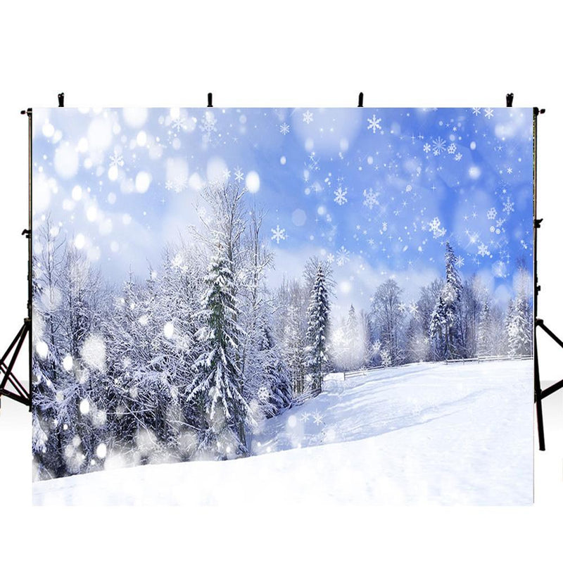 snow scenery photo backdrop for kids winter snow forest photography background interior decoration photo booth props Merry Xmas backdrops