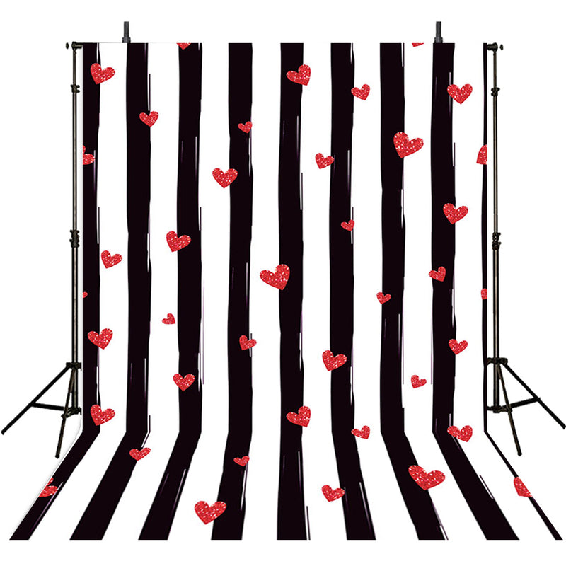 vinyl valentines day backdrops for photography 5x7ft black white streaks background red heart backdrops for photography love backdrop fringe wood backdrops for photographers valentines day backdrops stripes backgrounds