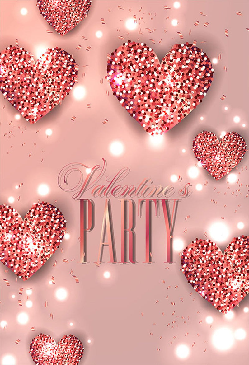Valentine Party Photography Backdrops Pink Sweetheart Photo Props Sparkle Diamond Valentine's Day Background Photo Studio Love
