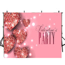Valentine Party Photography Backdrops Pink Sweetheart Photo Props Banner Sparkle Diamond Valentine's Day Background Photo Studio