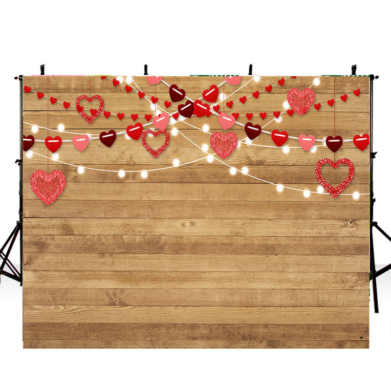 Photography Backdrops Wooden Floor Vinyl Photography For Backdrop Valentine's Day Digital Printed Photo Backgrounds For Photo Studio