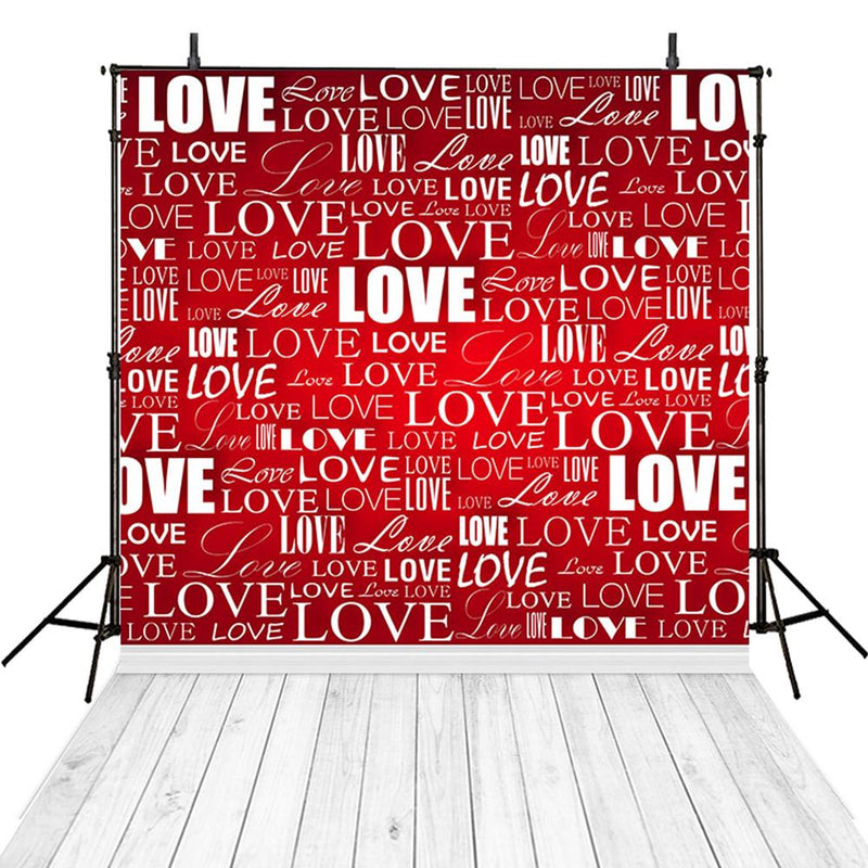 Wood Floor Valentine Party Photography Backdrops Love Sweetheart Photo Props Red Valentine's Day Background Photo Studio