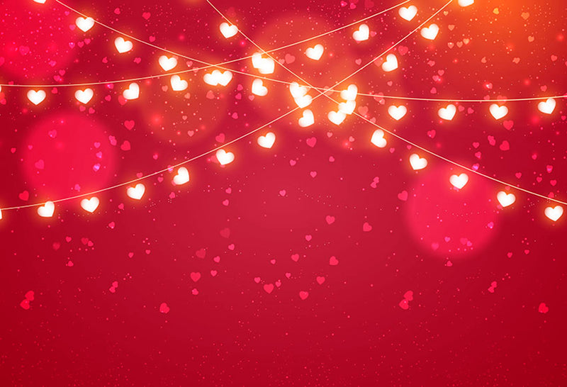 Valentine Party Photography Backdrops Red Sweetheart Photo Props Banner Sparkle Diamond Valentine's Day Background Photo Studio