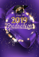 custom school photo booth props purple 2019 graduation photo backdrop Bachelor cap graduation photo backdrop for high school vinyl background purple photo props for teenages