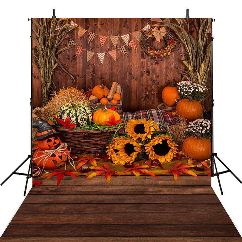 halloween party photo booth backdrop 6x8 wood floor backdrop for picture Pumpkin Lantern photography background ghost photo props for kids