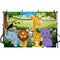 Jungle Safari Animals Zoo Photo Background Dinosaur Party Decoration Kids Birthday Banner Backdrop for Photography Studio