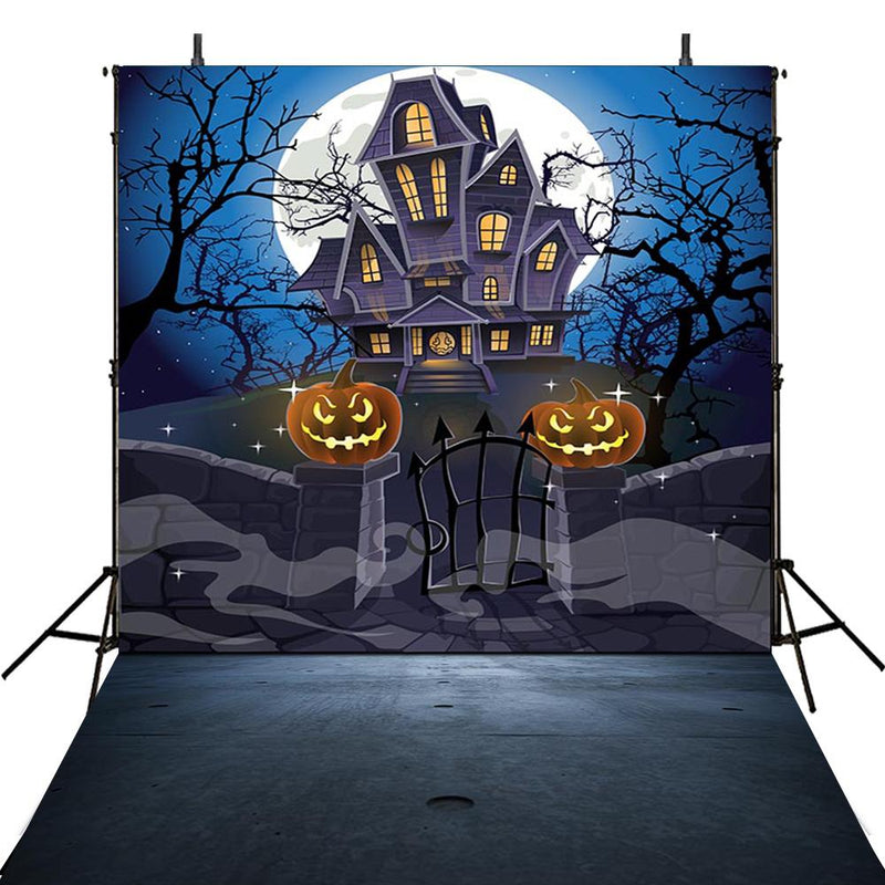 halloween photo booth backdrop Halloween Pumpkin 8x10 backdrop for picture Haunted House photography background halloween moon photo props party