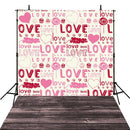 Wood Floor Valentine Party Photography Backdrops Pink Love Sweetheart Photo Props Valentine's Day Background Photo Studio Adults