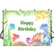 Happy Birthday Photography Background Animals Zoo Jungle Safari Party Banner Photo Studio Backdrop Kids Birthday Banner Photo Prop