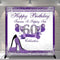 Custom Name 60th Birthday Photography Background for Women Purple Sliver Shine Heels Birthday Banner Photo Studio Vinyl Photo Prop