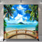 Summer Tropical Photography Background Hawaii Luau Ocean Party Banner Photo Studio Wood Floor Vinyl Photo Prop