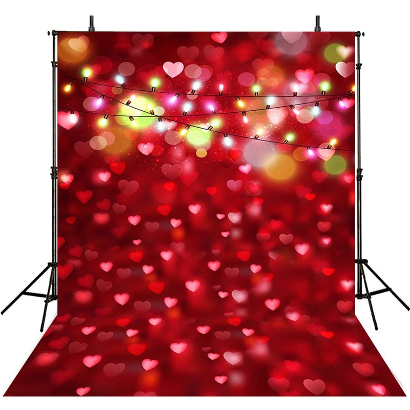 Love Valentine Photography Backdrops Red Heart Party Decor Valentine's Day Photocall Sparkle Bokeh Background Photo Studio
