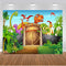 Animals Zoo Photo Background Dinosaur Jurassic Park Party Decoration Kids Birthday Banner Backdrop for Photography Studio