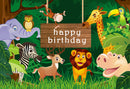 12ft wild one photo backdrop animals zoo lion photo booth props happy birthday photography background tropical theme vinyl backdrops for picture summer for kids giraffe Elephant background child party