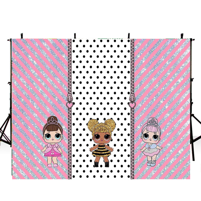 backdrop for pictures lol surprise photography backdrop cartoon pink sparkle background for photographer lol surprise photo booth props vinyl backdrops