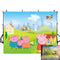 Peppa Pig Photography Backdrops Cartoon Backdrop For Photography Vinyl Photo Backdrops Television Background For Photo Studio