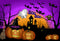 photo backdrop halloween 10x8 purple photo backdrop for halloween meiguisha Pumpkin Lantern photography background for child backgound for picture moon
