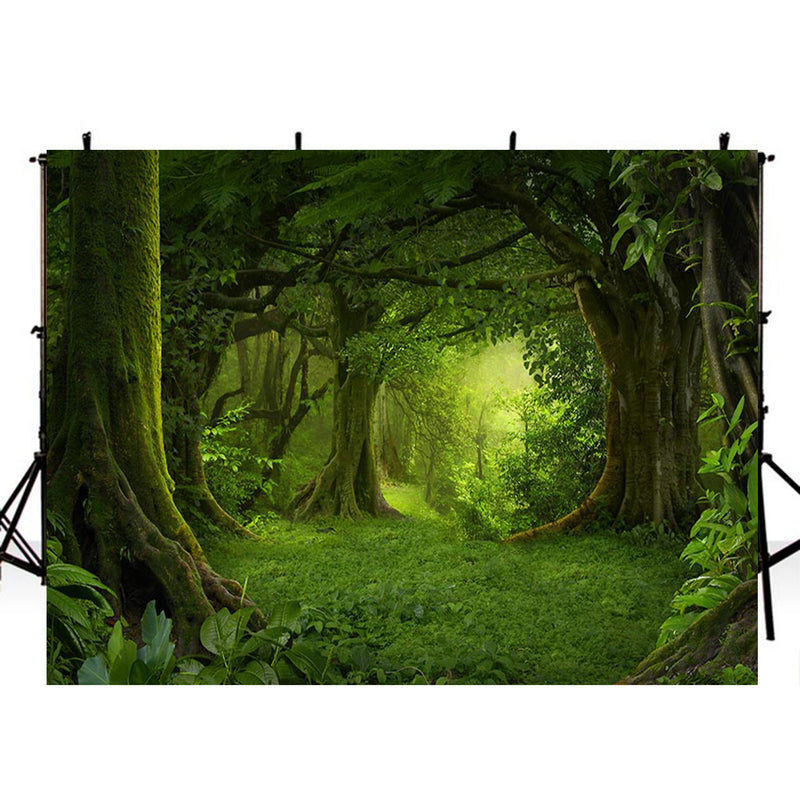 7ft wild photo backdrop enchanted forest photo booth props nature scenery photography background travel vinyl backdrops for picture summer trees background scenes