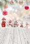 winter snowman photo backdrop wood floor christmas photography background snowflake photo booth props Merry Xmas backdrops kids