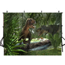 8ft Jurassic Park photo backdrop animals zoo dinosaur photo booth props happy birthday photography background tropical theme vinyl backdrops for picture summer for kids giraffe Elephant background child party