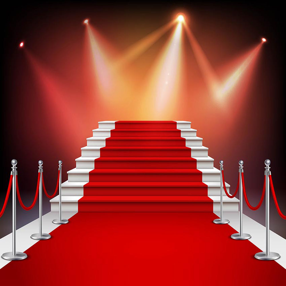 Red Carpet Photo Booth Props Hollywood Star Backdrop For Picture 8ft Wedding Theme Photography Backdrops Superstar 30th Wedding Anniversary Photo Backdrops Stage Lighting Personalized Background For Photographer Dreamybackdrop