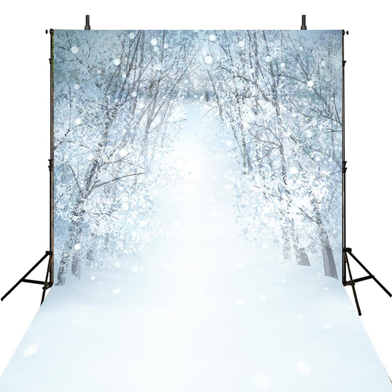 Christmas photo backdrop winter snow photography background snow scenes photo booth props snow frost backdrops snow forest