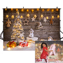 wood floor photo backdrop twinkle stars photography background Merry Christmas photo booth props winter snow vinyl backdrops kids