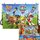 Cartoon Photography Backdrops Paw Patrol Birthday Backdrop For Photography Party Background For Photo Studio Fundo Fotografico