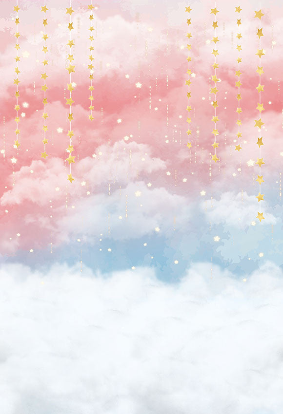 photography backdrop gold stars cloud colorful fantasy background photocall photo studio professional photobooth