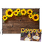 Sunflower Brown Wood Backdrops for Photography Rustic Child Baby Shower Birthday Party Banner Baby Cake Smash Photo Background
