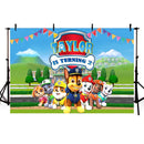 backdrop background paw patrol party-photo booth props paw patrol-vinyl photography backdrops paw patrol-cartoon backdrop for pictures-photo booth props paw patrol-name birthday backdrop-birthday party paw background