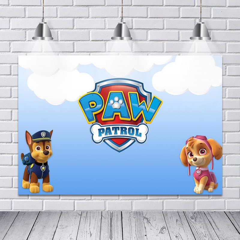 backdrop background paw patrol party-photo booth props paw patrol-vinyl photography backdrops paw patrol-cartoon backdrop for pictures-photo booth props paw patrol