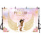 royal princess backdrop for photography Angel wing newborn baby shower background for photo studio party decoration little girl