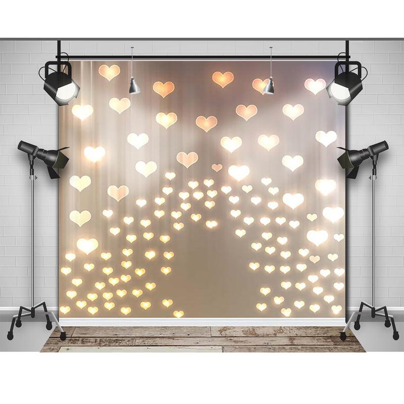 Bokeh Heart Backdrop for Photography Baby Shower Photographic Backgrounds Birthday for Girls Photo Props