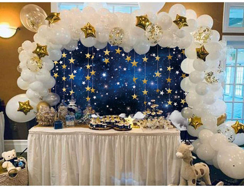 Twinkle Twinkle Little Star Photography Backdrops Navy Blue Background Backdrops Props Clouds Baby Shower Vinyl photo Backdrop