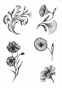 Pencil Flowers Sheet