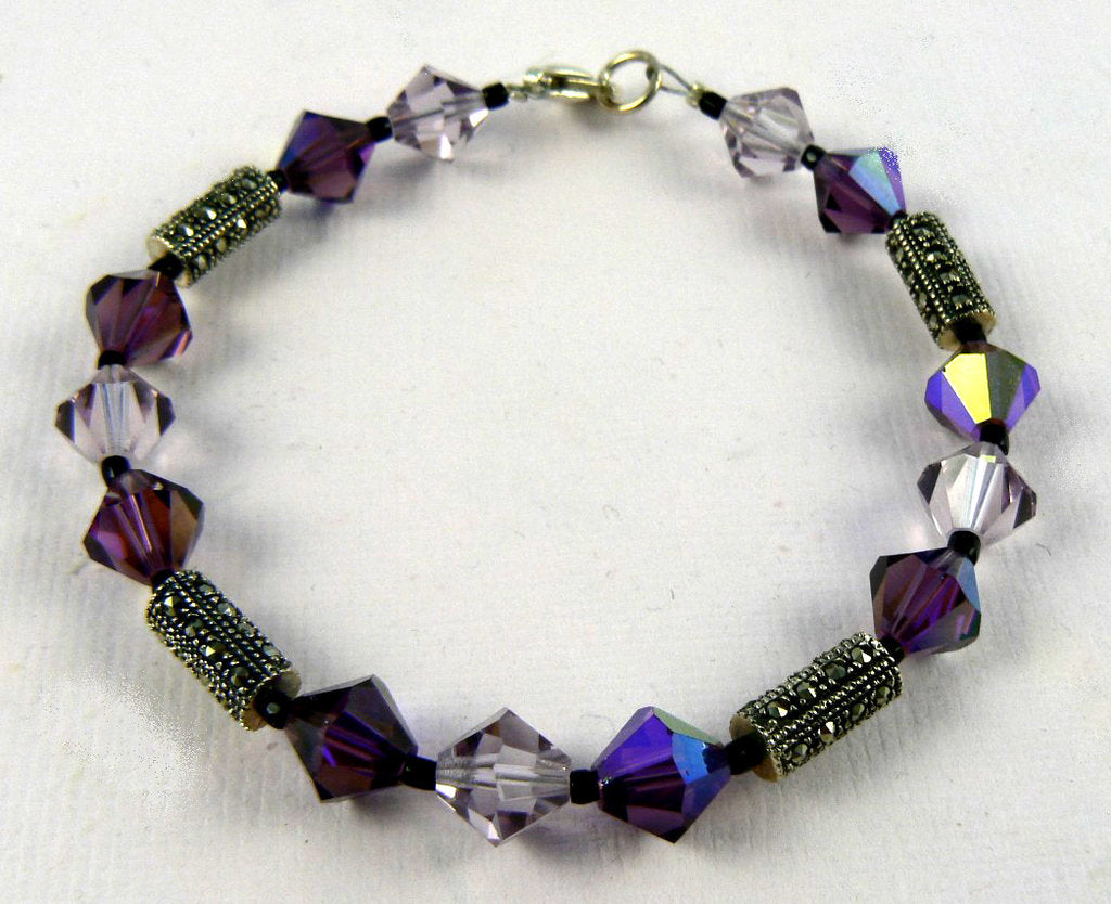 Swarovski Crystal and Czech Glass Bead Bracelet - SOLD