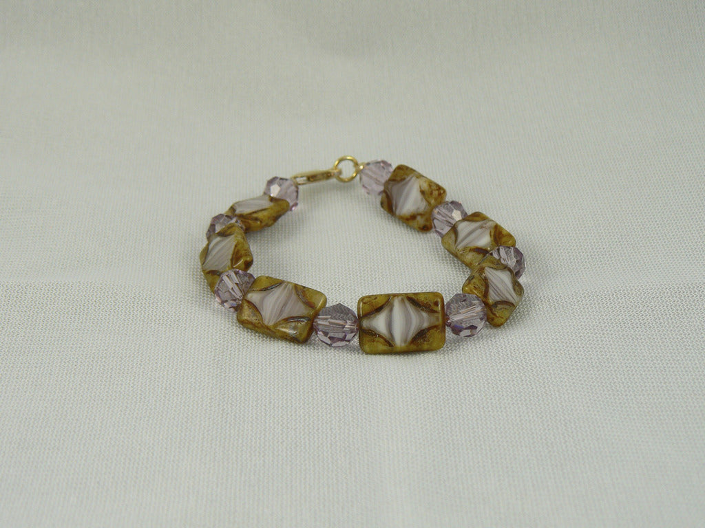 Swarovski and Czech Glass Bead Bracelet - SOLD