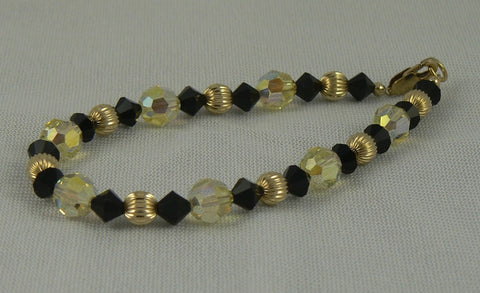 Swarovski and Gold Filled Beads Bracelet