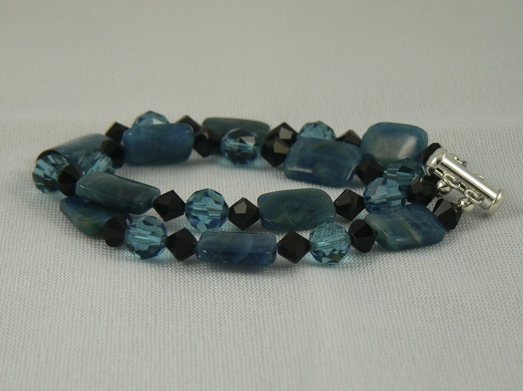 Apatite and Swarovski Bracelet - SOLD