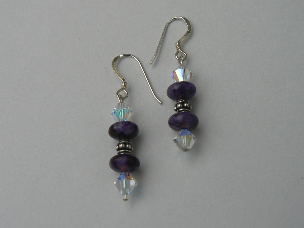 Purple Turquoise Earrings - SOLD
