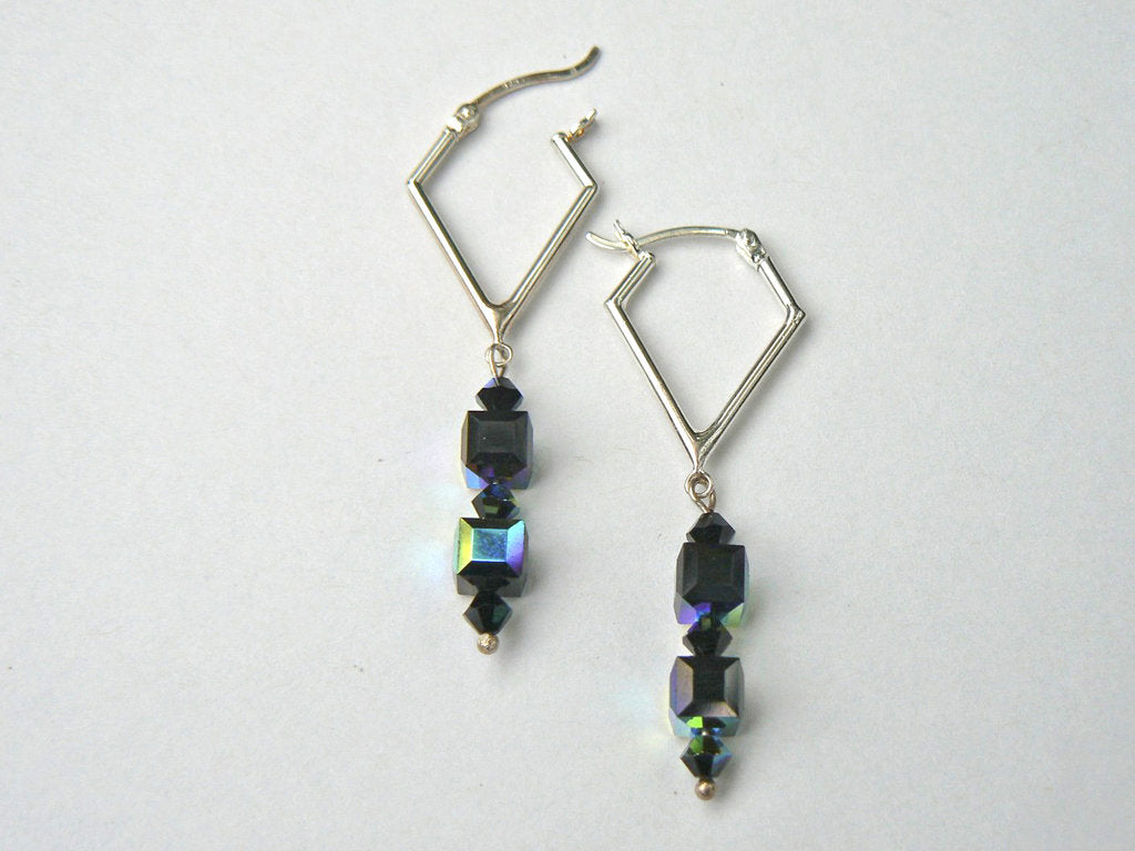 Swarovski Kite Hoop Earrings - SOLD