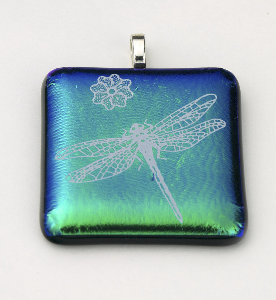 Fused Glass - Dragonfly Pendant