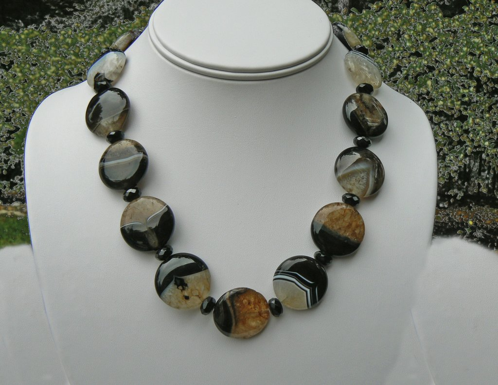 Quartz and Onyx Necklace - SOLD