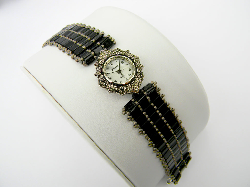 Tila Beads and Marcasite Watch
